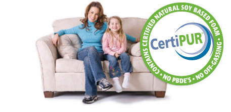 certipur natural non off gassing PBDE free foam