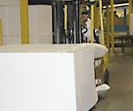 squeezer trucks for moving foam blocks
