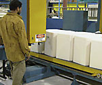 horizontal foam slicing cutting